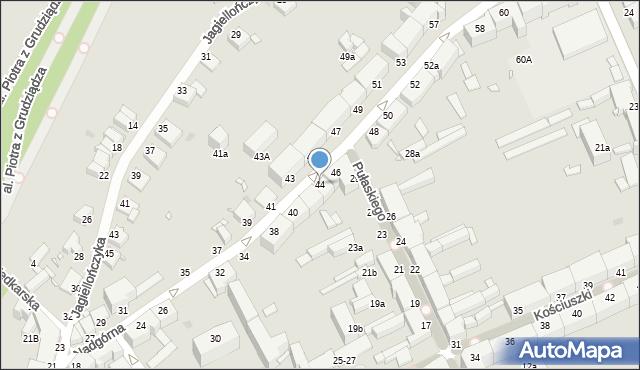Grudziądz, Nadgórna, 44, mapa Grudziądza