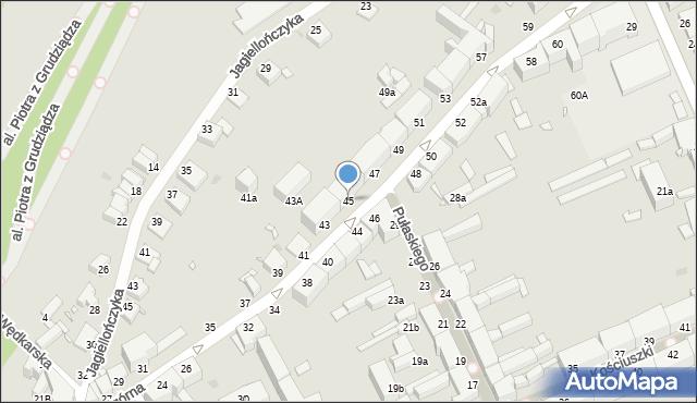Grudziądz, Nadgórna, 45, mapa Grudziądza