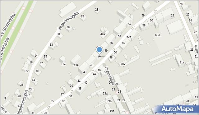 Grudziądz, Nadgórna, 47, mapa Grudziądza