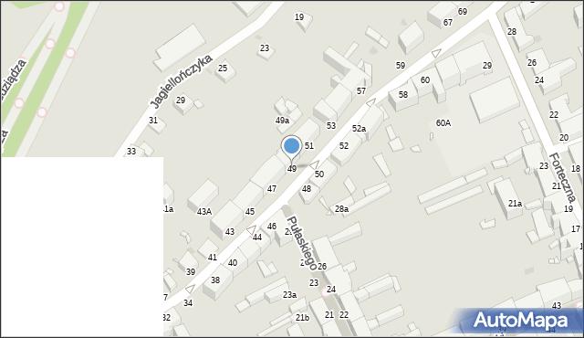 Grudziądz, Nadgórna, 49, mapa Grudziądza