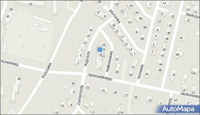 Grudziądz, Nałkowskiej Zofii, 9, mapa Grudziądza