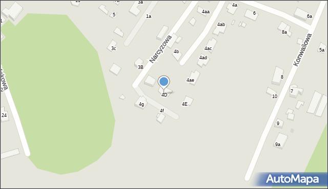 Grudziądz, Narcyzowa, 4D, mapa Grudziądza