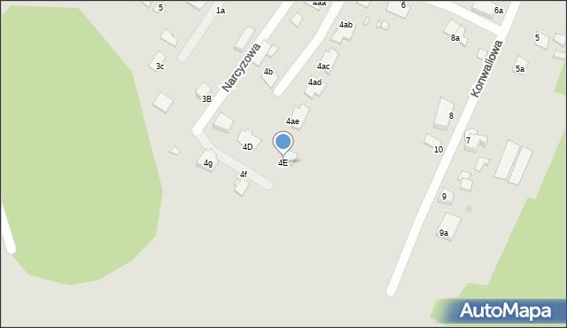 Grudziądz, Narcyzowa, 4E, mapa Grudziądza