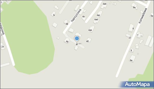 Grudziądz, Narcyzowa, 4f, mapa Grudziądza