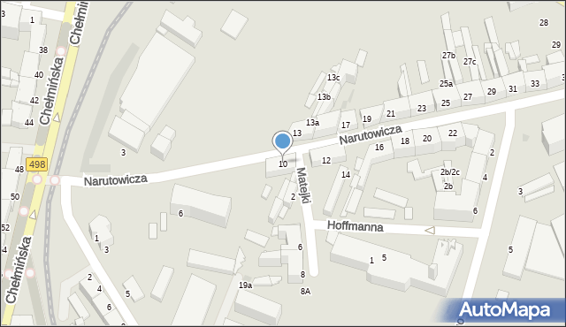 Grudziądz, Narutowicza Gabriela, 10, mapa Grudziądza