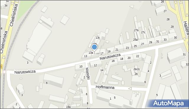 Grudziądz, Narutowicza Gabriela, 15, mapa Grudziądza