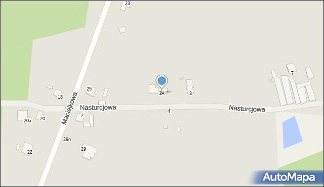 Grudziądz, Nasturcjowa, 3A, mapa Grudziądza
