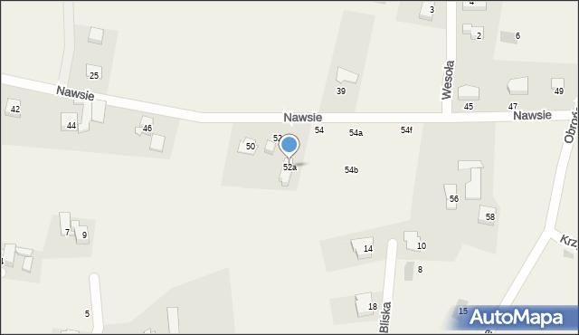 Jawiszowice, Nawsie, 52a, mapa Jawiszowice