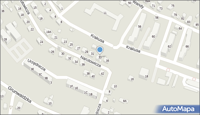 Jaworzno, Narutowicza Gabriela, 33, mapa Jaworzno
