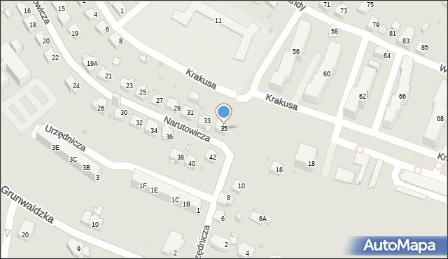 Jaworzno, Narutowicza Gabriela, 35, mapa Jaworzno