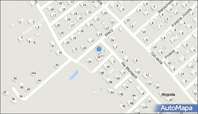 Jaworzno, Na Błoniach, 1a, mapa Jaworzno