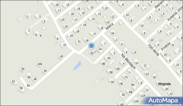 Jaworzno, Na Błoniach, 1b, mapa Jaworzno