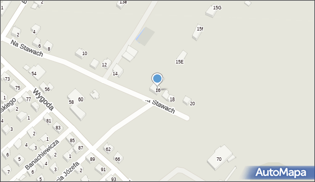 Jaworzno, Na Stawach, 16, mapa Jaworzno