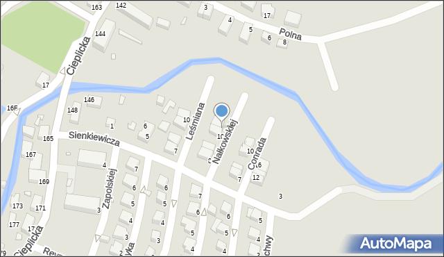Jelenia Góra, Nałkowskiej Zofii, 11, mapa Jelenia Góra