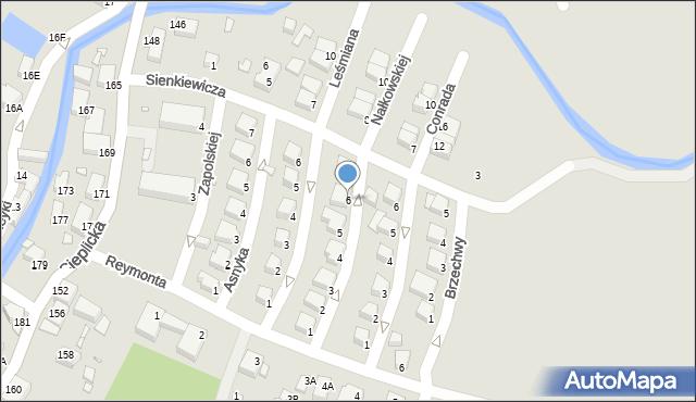 Jelenia Góra, Nałkowskiej Zofii, 6, mapa Jelenia Góra