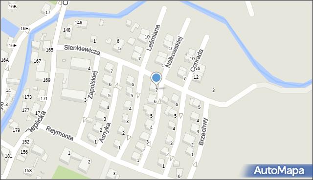 Jelenia Góra, Nałkowskiej Zofii, 7, mapa Jelenia Góra