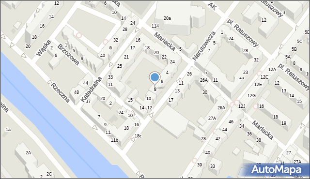 Kołobrzeg, Narutowicza Gabriela, 8, mapa Kołobrzegu