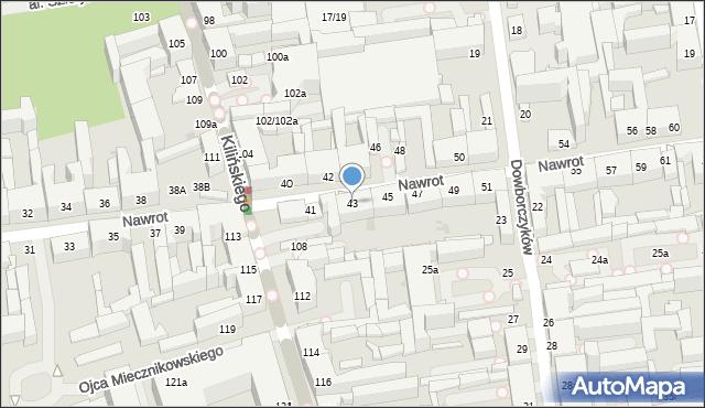 Łódź, Nawrot, 43, mapa Łodzi
