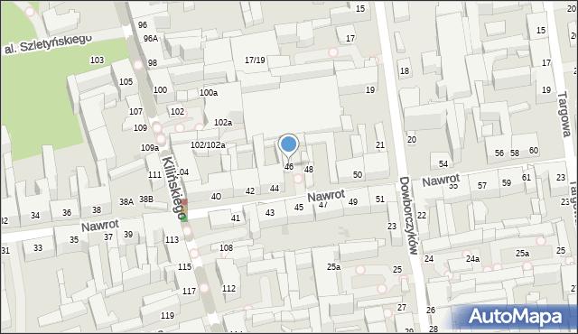 Łódź, Nawrot, 46, mapa Łodzi