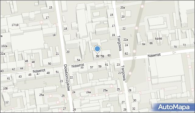 Łódź, Nawrot, 56, mapa Łodzi