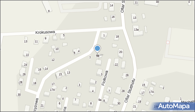 Luzino, Narcyzowa, 5B, mapa Luzino