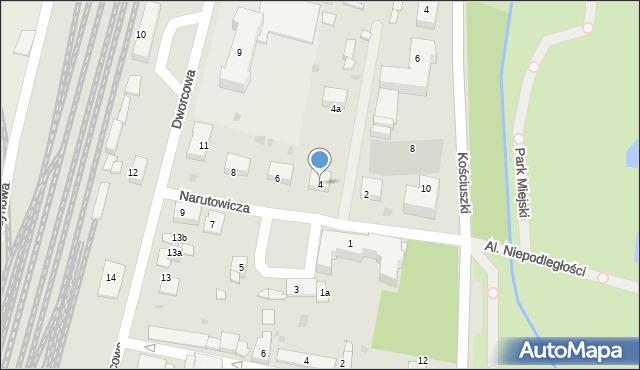 Mogilno, Narutowicza Gabriela, 4, mapa Mogilno