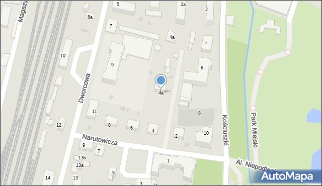 Mogilno, Narutowicza Gabriela, 4a, mapa Mogilno