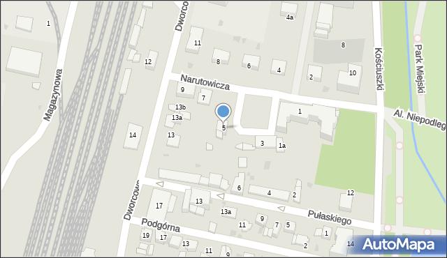 Mogilno, Narutowicza Gabriela, 5, mapa Mogilno
