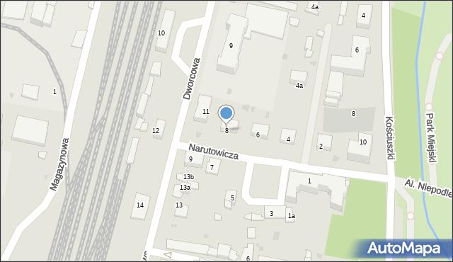 Mogilno, Narutowicza Gabriela, 8, mapa Mogilno