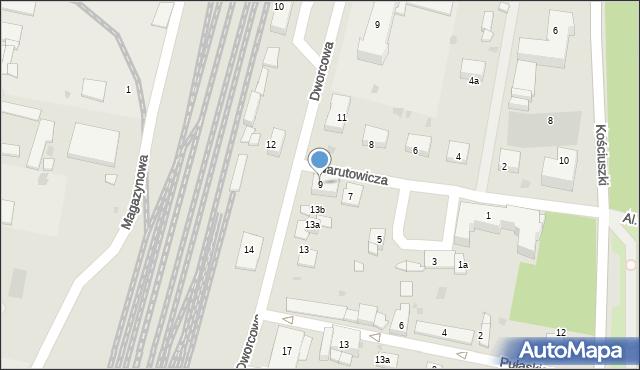 Mogilno, Narutowicza Gabriela, 9, mapa Mogilno