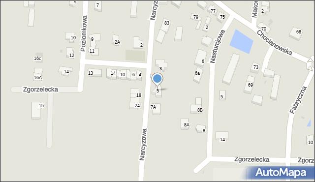 Polkowice, Narcyzowa, 5, mapa Polkowice