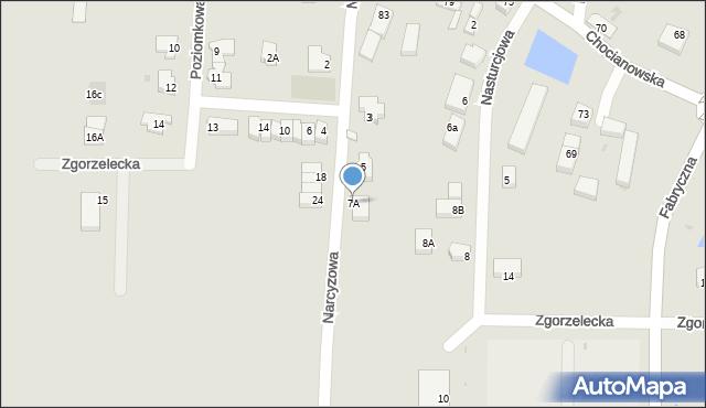 Polkowice, Narcyzowa, 7A, mapa Polkowice