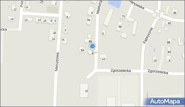 Polkowice, Nasturcjowa, 8, mapa Polkowice
