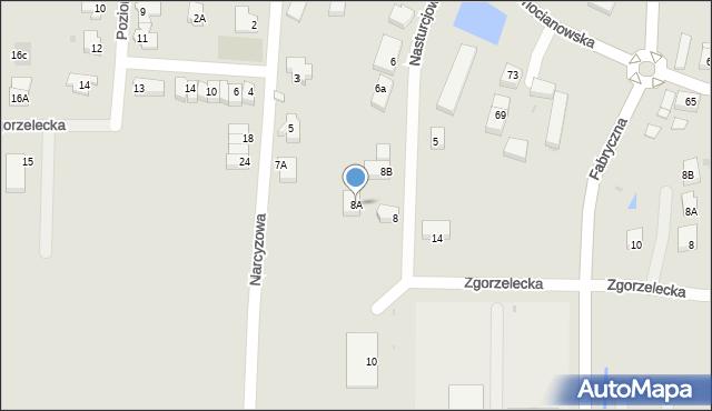 Polkowice, Nasturcjowa, 8A, mapa Polkowice
