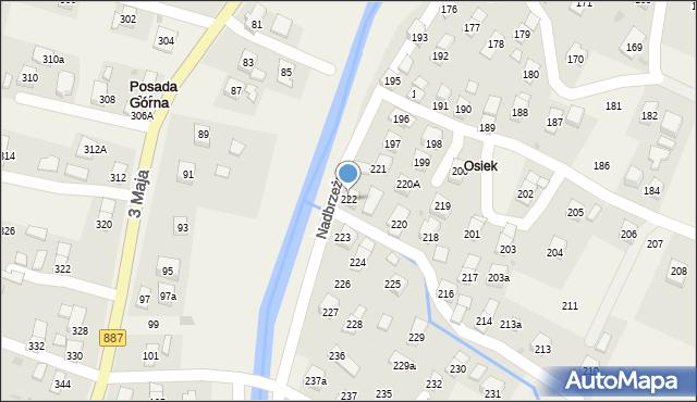 Posada Górna, Nadbrzeżna, 222, mapa Posada Górna