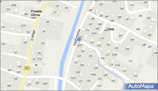 Posada Górna, Nadbrzeżna, 223, mapa Posada Górna