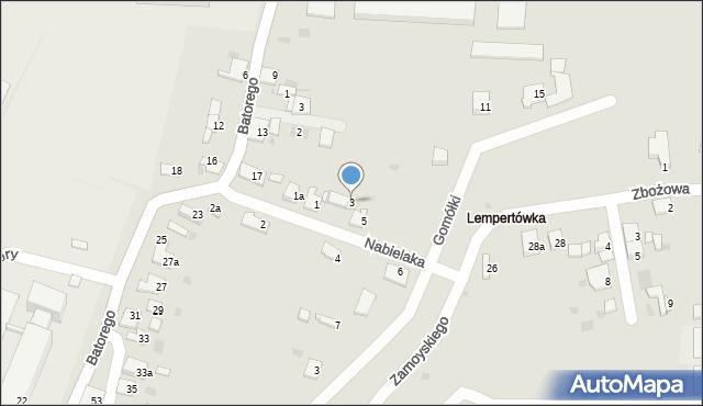 Przemyśl, Nabielaka Ludwika, 3, mapa Przemyśla