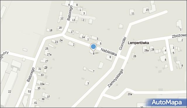 Przemyśl, Nabielaka Ludwika, 4, mapa Przemyśla