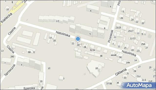 Radom, Natolińska, 24, mapa Radomia