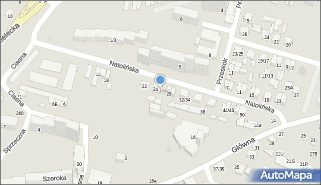 Radom, Natolińska, 26, mapa Radomia