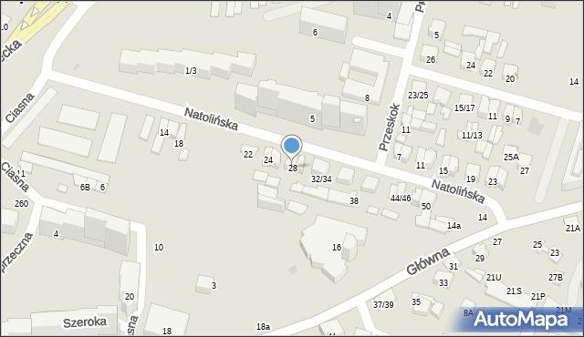Radom, Natolińska, 28, mapa Radomia