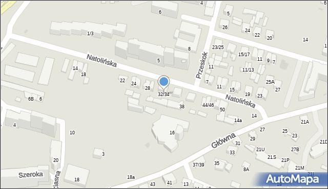 Radom, Natolińska, 32/34, mapa Radomia