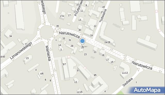 Radom, Narutowicza Gabriela, 25, mapa Radomia