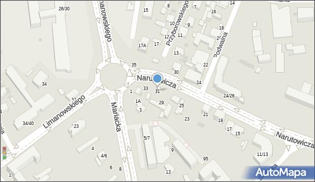 Radom, Narutowicza Gabriela, 31, mapa Radomia