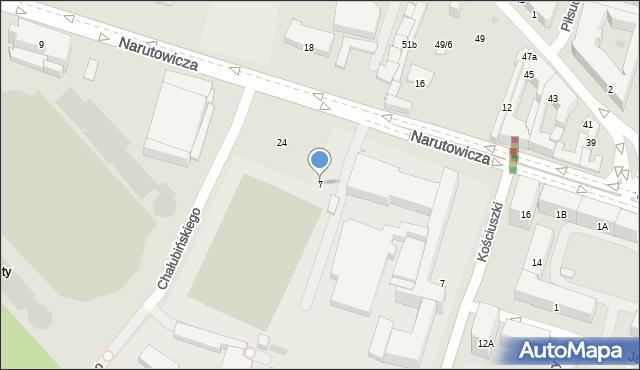 Radom, Narutowicza Gabriela, 7, mapa Radomia