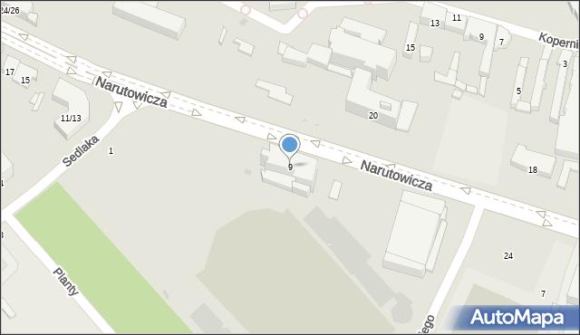Radom, Narutowicza Gabriela, 9, mapa Radomia