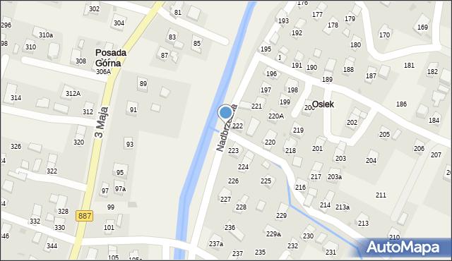 Rymanów-Zdrój, Nadbrzeżna, 190, mapa Rymanów-Zdrój