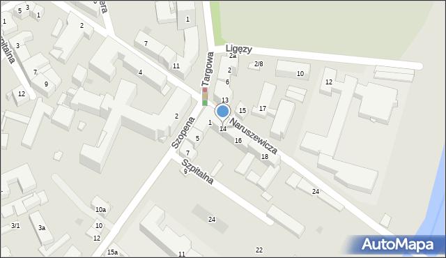 Rzeszów, Naruszewicza Adama Stanisława, 14, mapa Rzeszów
