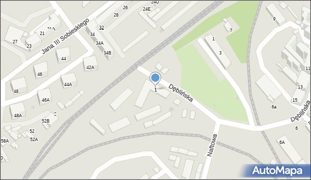 Sosnowiec, Naftowa, 1, mapa Sosnowca