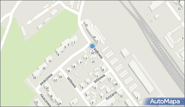 Sosnowiec, Naftowa, 11, mapa Sosnowca